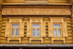 Высекаенное украшение окна Стоковое Изображение
