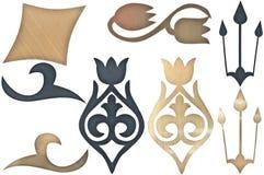 Высекаенные декоративные элементы Стоковая Фотография RF