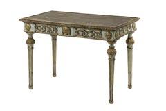 Высекаенный антиквариатом стиль покрашенный таблицей затрапезный шикарный Стоковая Фотография RF