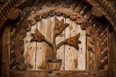 высекаенный год сбора винограда орнамента традиционный деревянный Стоковые Фотографии RF
