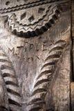 высекаенный год сбора винограда орнамента традиционный деревянный Стоковое Фото