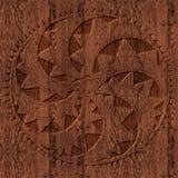 Высекаенный деревянный кельтский орнамент Стоковые Фотографии RF
