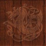 Высекаенный деревянный кельтский символ Стоковое фото RF