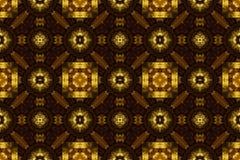 Высекаенный золотой орнамент, безшовная текстура картины. Стоковые Изображения