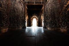 Высекаенный интерьер виска Стоковая Фотография