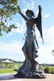 Высекаенный и скульптура статуи ангела попечителя европейский стиль Стоковые Изображения RF