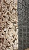 Высекаенный каменный столбец Стоковое Изображение