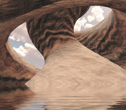 Высекаенный каньон Стоковая Фотография RF