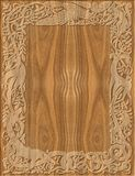 Высекаенный стиль деревянной рамки кельтский Стоковая Фотография