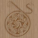 Высекаенный стиль деревянной рамки кельтский Стоковое фото RF