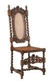 Высекаенный стул грецкого ореха тяжело изолированным на белизне Стоковое Фото