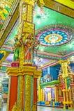 Высекаенный штендер в индусском виске Стоковое Изображение RF