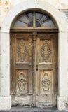 высеканная дверь деревянная Стоковая Фотография