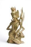 высеканная древесина статуи Стоковая Фотография RF