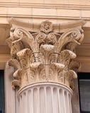 высеканная колонка ornately стоковое изображение