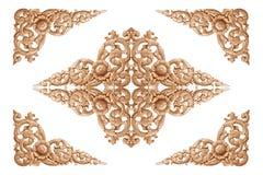 высеканная древесина картины цветка Стоковая Фотография