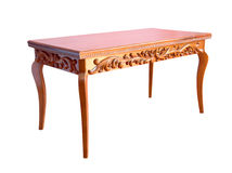 высеканная таблица деревянная Стоковые Изображения