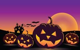 высеканная тыква halloween иллюстрация штока