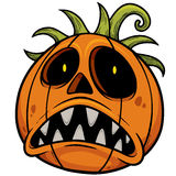 высеканная тыква halloween Стоковая Фотография