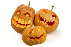 высеканная тыква halloween Стоковые Фотографии RF