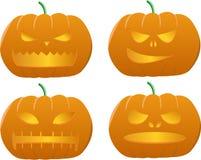 высеканная тыква halloween бесплатная иллюстрация