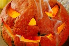 высеканная тыква halloween Стоковое Изображение RF
