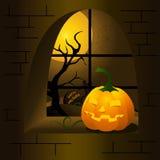 высеканная тыква halloween Иллюстрация вектора