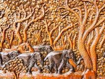высеканное деревянное Стоковая Фотография
