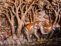 высеканное деревянное Стоковое Изображение