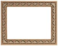 высеканное золото рамки изолировало прямоугольное Стоковое Изображение RF