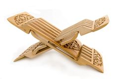 высеканное пребывание koran деревянное Стоковое Фото