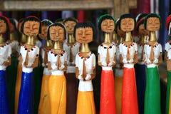 высеканные девушки деревянные Стоковое Изображение RF