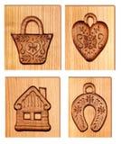 высеканные изображения деревянные Стоковые Изображения RF