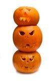 Высеканные тыквы Halloween Стоковые Фотографии RF