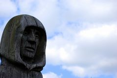 высеканный головной монах Стоковые Фото