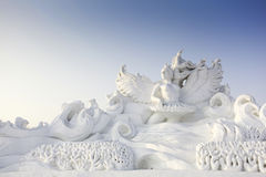 Высеканный снежок. Стоковое фото RF