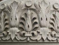 высеканный флористический камень картины Стоковые Фото