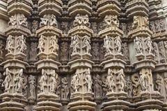 высекать висок khajuraho детали Стоковые Фото