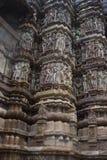 высекать висок khajuraho детали Стоковое Фото