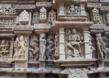 высекать висок khajuraho детали Стоковые Фотографии RF