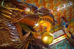 Высекать древесины дракона стоковое изображение rf