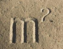 высекать камень квадрата знака метра Стоковое Фото