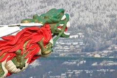 Высекать китайского дракона головной Стоковое Изображение RF