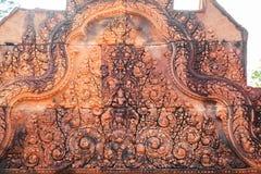 Высекать на banteay srei стоковое фото