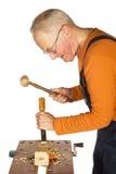 высекать отделывая древесину стоковое фото