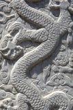 Высекать дракона - близкое поднимающее вверх Стоковое фото RF