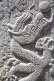 Высекать дракона - близкое поднимающее вверх Стоковые Изображения RF