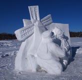 Высекать снега ветрянки Стоковое фото RF