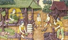 Высекать традиционной тайской культуры каменный стоковые изображения