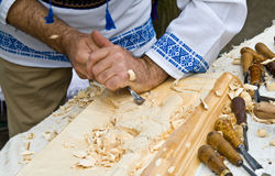 высекать древесину Стоковые Фото